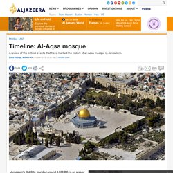 A review of the critical events that have marked the history of al-Aqsa mosque in Jerusalem