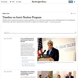Timeline on Iran's Nuclear Program