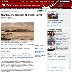 New timeline for origin of ancient Egypt