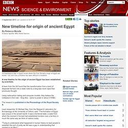 New timeline for origin of ancient Egypt