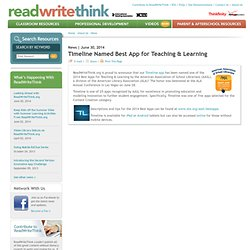 Timeline Named Best App for Teaching & Learning
