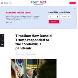 Timeline: How Donald Trump responded to the coronavirus pandemic