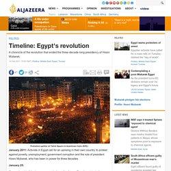 Timeline: Egypt unrest - Middle East