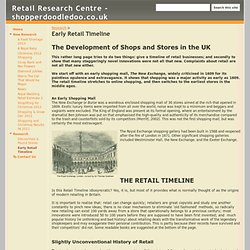 Early Retail Timeline - Retail Research Centre - shopperdoodledoo.co.uk