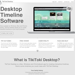 Desktop Timeline Software for Mac OSX