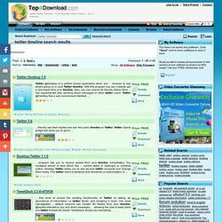 twitter timeline Software - Free Download twitter timeline