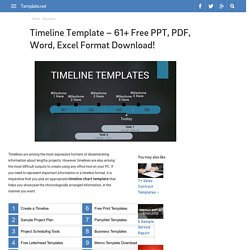 Timeline Template - 61+ Free PPT, PDF, Word, Excel Format Download!