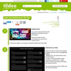 Créer une timeline avec Tiki Toki on Tildee