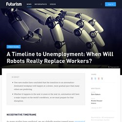 A Timeline to Unemployment: When Will Robots Really Replace Workers?