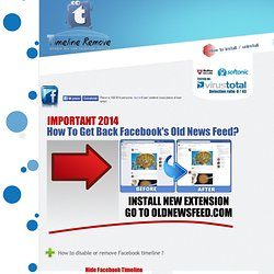 TimeLineRemove.Com disable the new facebook timeline! ..: Remove facebook timeline