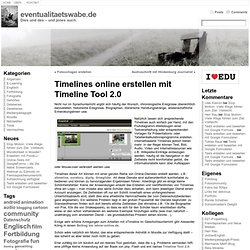 Timelines online erstellen mit Timeline Tool 2.0