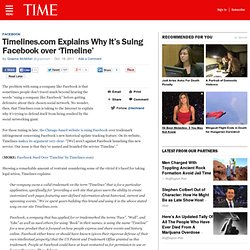 lines.com Explains Why It's Suing Facebook over 'Timeline'