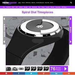 Spiral Dial Timepieces : Tactile Watch by Jake Rynkiewicz