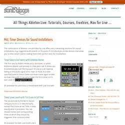 M4L Timer Devices for Sound Installations