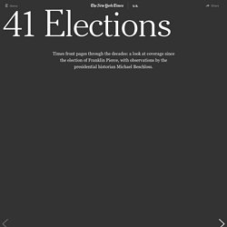 New York Times Election Front Pages