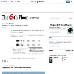 The New York Times Magazine - The 6th Floor Blog
