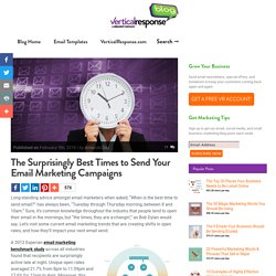 The Surprisingly Best Times to Send Your Email Marketing Campaigns