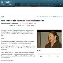 New York Times: How To Read NYT Online For Free