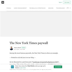 The New York Times paywall – Poool Stories