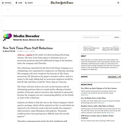 New York Times Plans Staff Reductions