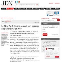 Le New York Times réussit son passage au payant sur le Web