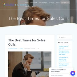 The Best Times for Sales Calls - DJM Sales & Marketing