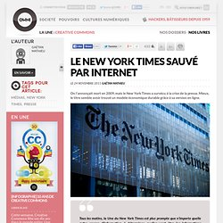 Le New York Times sauvé par internet