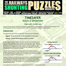 Timesaver Shunting Puzzle - Rules & Operation