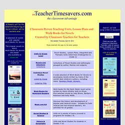 Classroom Proven Teaching Units and Lesson Plans created by Teachers