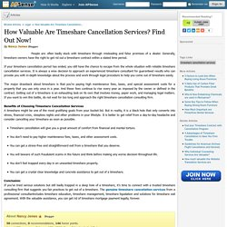 How Valuable Are Timeshare Cancellation Services? Find Out Now!