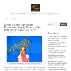 Grand Solmar Timeshare Showcases Family Time at Cabo Dolphins in Cabo San Lucas - Grand Solmar Timeshare