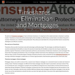 US Consumer Attorneys - Timeshares – Elimination and Mortgages