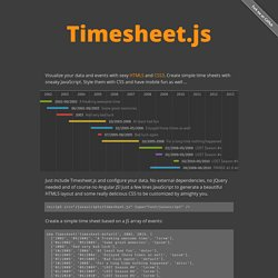 Timesheet.js - Open time tables with HTML, JavaScript and CSS …