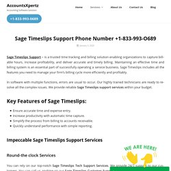 Sage Techinical Support Phone Number For Timeslips.