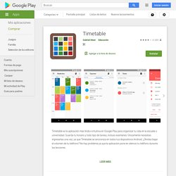 Timetable - Aplicaciones Android en Google Play