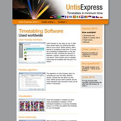 School Timetabling Software - Timetable builder - UntisExpress