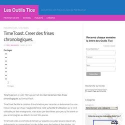 TimeToast. Créer des frises chronologiques. Les Outils Tice