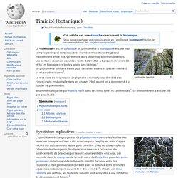 Timidité (botanique)