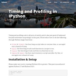 Timing and Profiling in IPython - PyNash