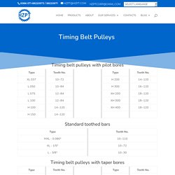 Timing belt pulleys with taper bores