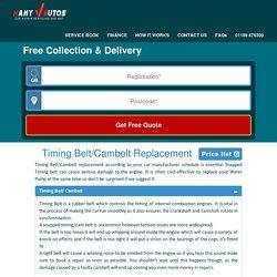 Timing belt Replacement, Repair, Service