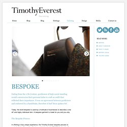 Timothy Everest - Bespoke