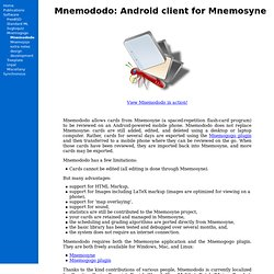 Android client for Mnemosyne
