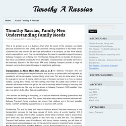 Timothy Rassias, Family Men Understanding Family Needs