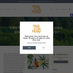 CBD Tinctures and CBD Oils; What's The Difference? - High Falls Hemp