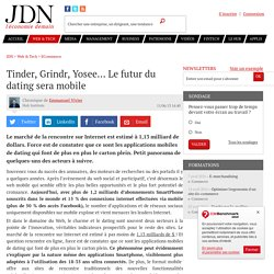 Tinder, Grindr, Yosee... Le futur du dating sera mobile