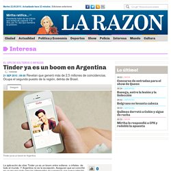 Tinder ya es un boom en Argentina