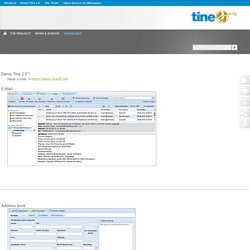 Tine2.0 - Demo Open Source Software