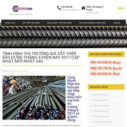 Tình hình thị trường giá sắt thép xây dựng tháng 4 hiện nay 2017 cập nhật mới nhất 24g