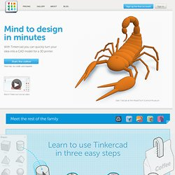 Tinkercad - Solid modeling for artists and makers